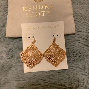 Kendra Scott Rose Gold Filigree Kirsten Earrings